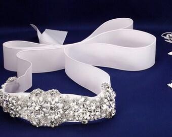 Rhinestone Sash, Wedding Sash Belt, Crystal Belt, Bridal Sash, Bridal Dress Sash, Pearl Sash, Pearl Bridal Belt, Bridal Belt Bridesmaid Sash