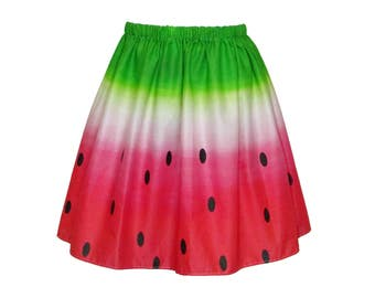watermelon skirt etsy