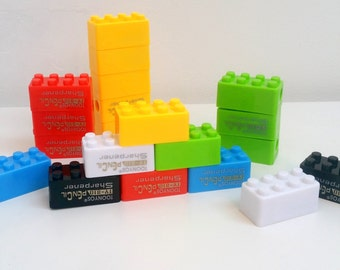 Colourful Building Block Pencil Sharpener
