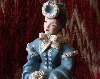 Delia by Florence Ceramics of California, 8 Inch Figurine, Gorgeous Lady Out For Stroll