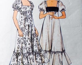 1970's Style high waisted dress pattern