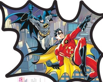 Robin Wall Sticker Etsy - Superhero vinyl wall decals