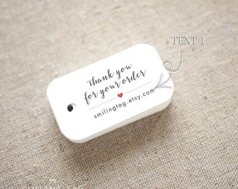 Thank you for Your Order Etsy Shop Product Tags Personalized Gift Tags - Etsy Shop Hang Tags- Etsy Shop Labels - Set of 40 (Item code: J664)
