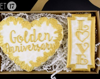 Golden Anniversary Sugar Cookies Box Set