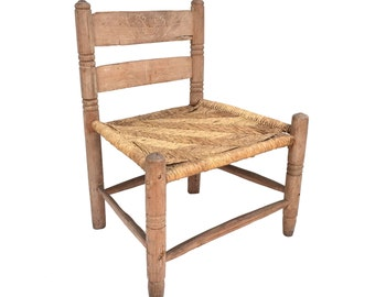 Wooden Child's Chair, Carved Wood