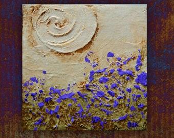 Minimalist, Original Painting,Landscape Painting, Small Painting 4x4, Landscape,  Abstract Painting,Home Decor, Stretched Canvas