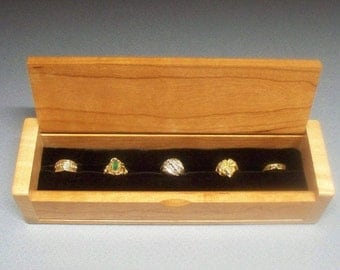 Mothers Day Gift, Ladies Ring Jewelry Box, Ring Storage Box, Made in the USA, Lacquer Finished