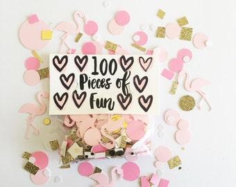 pink flamingo confetti, pink flamingo party, pink flamingo, light pink flamingo, flamingo party, flamingo confetti, flamingo birthday, pink
