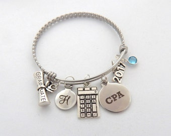 CPA Graduation Gift, CPA Jewelry, CPA Bracelet, Gifts for Certified Public Accountant, Accountant Gift, Gifts for Accountants, cpa charm