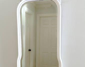 Vintage White Mirror Shabby Chic  Wood Frame Ornate