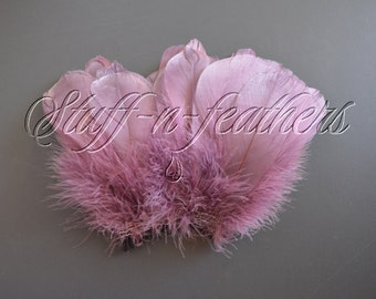 Amethyst GOOSE NAGOIRE feathers, real feather purple for millinery, weddings, accessories, crafts / 3-6 in (7.5-15 cm) / F203-3