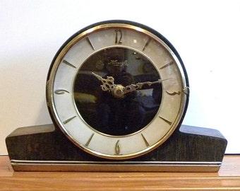 Vintage Kienzle Clock - Recycled Mantel Shelf Clock - 1950's Napoleon Clock