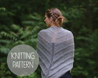 knitting pattern spring lace shawl - the willow shawl
