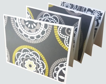 blank note cards, retro thank you notes, folded notes,