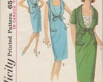 60s Sheath Dress Pattern Simplicity 5820 Size 14