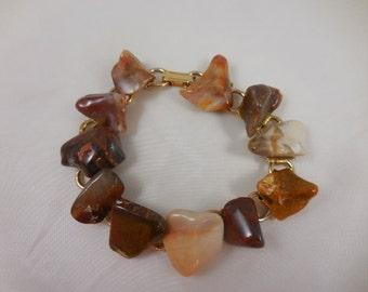 Vintage Polished Agate Bracelet
