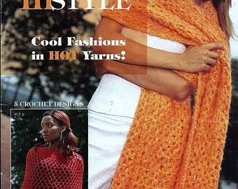 Wrapped In Style Ponchos, Capes & Shawls Crochet Pattern Book from Leisure Arts Book 3805