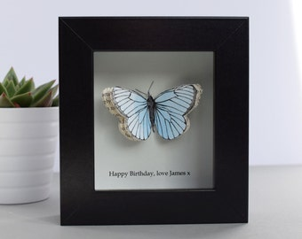 Little Butterfly Box Personalised Gift - Mother's Day Personalized Butterfly Gift - paper butterfly framed picture - first anniversary gift