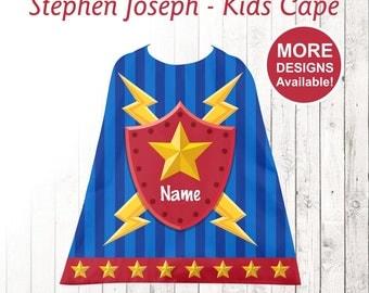 Super hero Kids Cape, Personalized Cape, Little Boy's Cape, Stephen Joseph Cape, Youth Cape, hero cape,