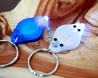 UV led BLACK LIGHT keychain for your glowing items