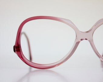 Vintage Oversized Raspberry Drop Arm Eyeglasses Frames
