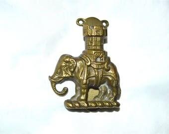 Elephant with Fancy Howdah Door Knocker Vintage