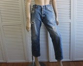 "RESERVED Vintage Thrashed Levi 501 Jeans Size 30""  Grunge 80s Button Fly"