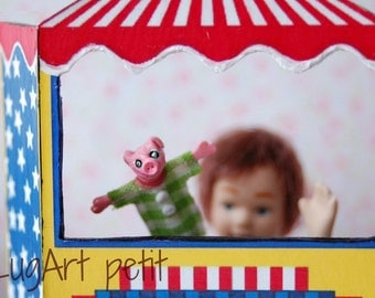 Pig Puppet for dollhouse (1:12 scale)