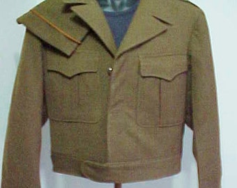 Wool Eisenhower Flight Jacket/Ike Jacket/Dated 1950/wCap/ Sz38L