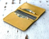 Minimalist Wallet, Personalized Passport Covers, Yellow Leather Holder, ID Wallet, Thin Wallet, Travel Wallet, Cute Passport Holder