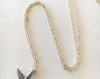 Dainty Starfish Sterling Silver Necklace