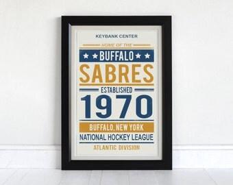 Buffalo Sabres - Screen Printed Poster