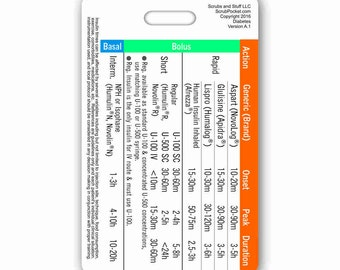 Insulin Vertical Badge Card