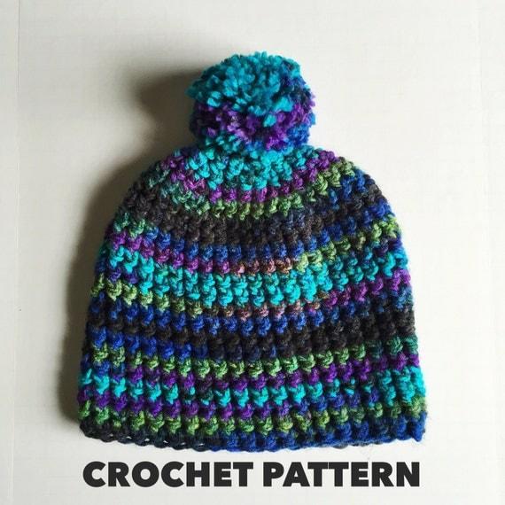 Mens Hat Crochet Pattern Chunky Yarn : Slouchy Chunky Beanie Crochet Pattern Bulky Weight 5 Yarn