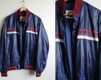Vintage 80s Tracksuit Jacket - 80s Windbreaker Jacket - Mens Jacket - Womens Jacket - Nylon - Adidas Style - Light Jacket - XL