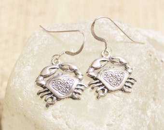 Sterling Silver Astrology Cancer Earrings, Zodiac Signs Earrings, Gifts Under 25