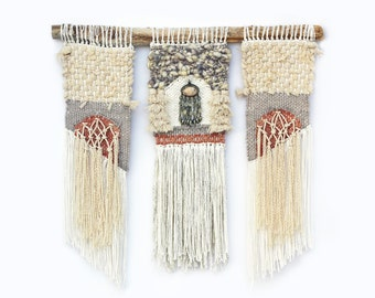 Petra Rope and Pendant Weaving Woven Wall Hanging