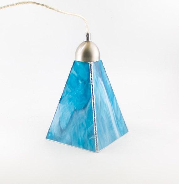 Aqua Blue Art Glass Pendant Lighting Kitchen Island Ceiling