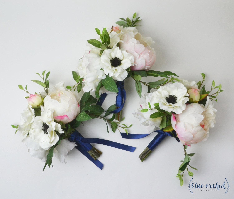Bridesmaid bouquet silk flower bouquet peony bouquet blush zoom dhlflorist Choice Image