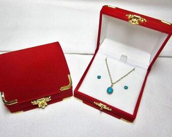 Sleeping Beauty Necklace, Sleeping Beauty Earrings - Necklace & Earrings Set - Turquoise Jewelry Set