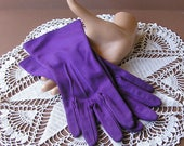Vintage Purple Nylon Gloves by Shalimar sz 7 Made in U.S.A.