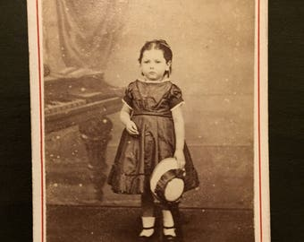 Little Girl with Piano CDV