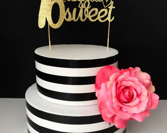 Sweet Sixteen- cake toppers