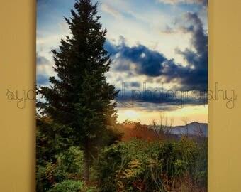 Appalachian Mountain Sunset Landscape Metal Print