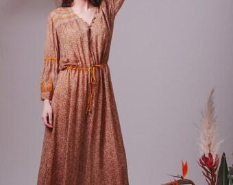 Bohemian Indian Silk dress,Boho dress,Bohemian bridesmaid dress,Hippie wedding dress,Color wedding dress,Unique wedding dress,Indian dress