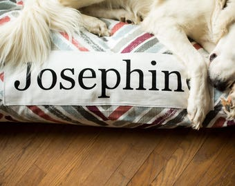 Dog Bed Cover - Personalized Dog Bed - Custom Dog Bed -  Gray, Scarlet, Rust - Pet Beds - Large Dog Bed Cover Dog Bed ALL SIZES - Washable