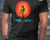 T Shirt of my Karate Kid inspired parody art clothing design for Men and Women by Barrett Biggers