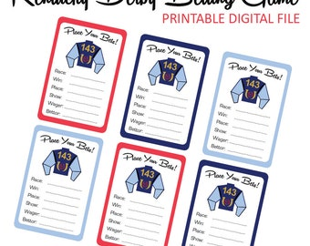 Kentucky Derby Game - Derby Game - Kentucky Derby - Betting Game - Betting Cards - Game - Printable