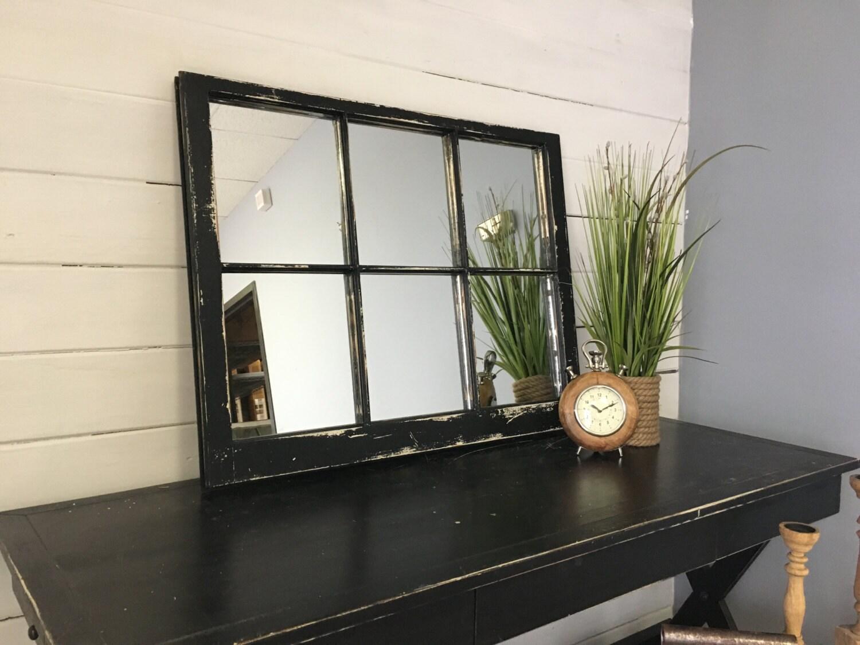 Black Mirror Black Window Mirror Window Pane Mirror