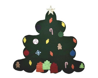 Felt Christmas Tree - Wall Christmas Tree - Felt Board -  Flannel Board Tree -  Felt Story Board- Christmas Decoration - Childrens Tree